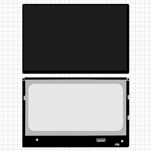 LCD for Asus PadFone 2 A68 Tablet #N101iCG L21 rev A1 ASUS code Rev.C2 Small Interface