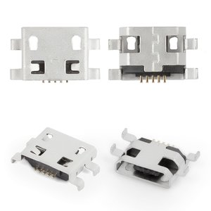 Charge Connector for Fly Flylife Connect 7.85 3G 2 Tablet; Tablets; Cell Phones, (5 pin, micro USB type-B)