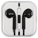 Headphone for Apple Cell Phones; Apple Tablets; Apple MP3-Players, (black, TRRS 3.5 mm)