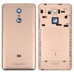 Battery Back Cover Xiaomi Redmi Note 3, (golden, Original (PRC), with side button)