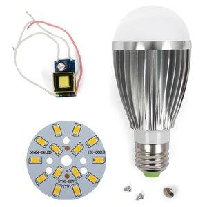 LED Light Bulb DIY Kit SQ-Q03 7 W (warm white, E27), Dimmable