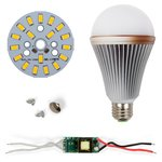 LED Light Bulb DIY Kit SQ-Q24 5730 9 W (warm white, E27), Dimmable