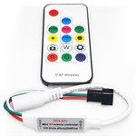 LED Controller with RF Remote Control SP103E (RGB, WS2801, WS2811, WS2812, WS2813 5 V)