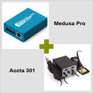 Medusa Pro Box + Hot Air Rework Station Accta 301 (220V) Combo