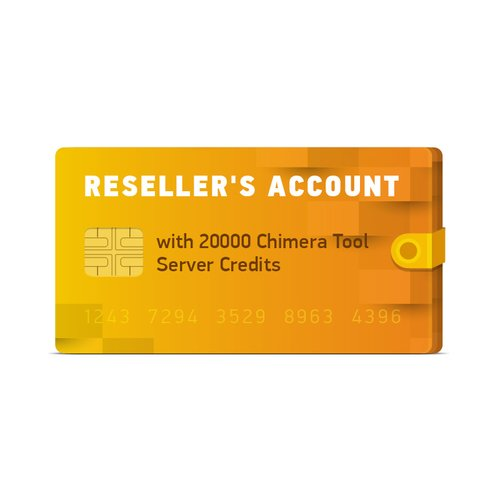 ChimeraTool 20000 Server Credits for Reseller's Account