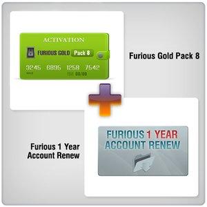 Продление доступа в зону поддержки Furious на 1 год + Furious Gold Pack 8
