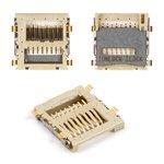 Коннектор карты памяти для мобильных телефонов Samsung B3310, B520, B5702, C5110, C6112, D880, D888 , E2120, E2121, E2130, F250, F250L, M2310, M2510, M2520, M2710, S3500, S5600, S5600v, #3709-001394
