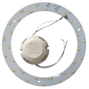 Комплект для сборки светодиодного светильника 15 Вт (естественный белый, круглый, 4000-4500 К)