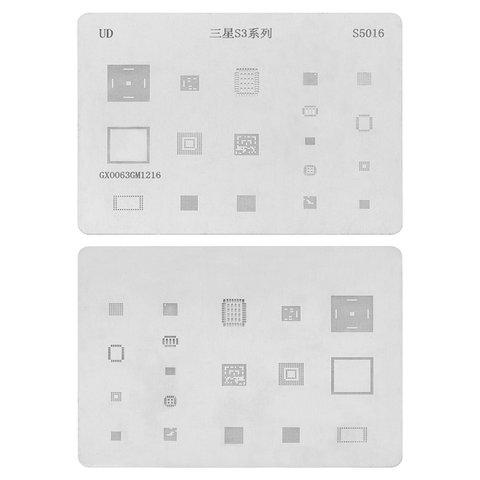 BGA-трафарет S5016 для мобильного телефона Samsung I9300 Galaxy S3, 18 в 1