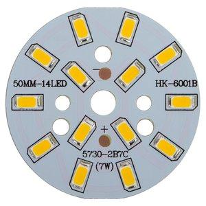 Плата со светодиодами 7 Вт (теплый белый, 840 лм, 50 мм)