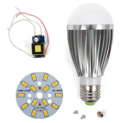 Комплект для збирання світлодіодної лампи SQ-Q03 5730 7 Вт (теплий білий, E27), регулювання яскравості (димірування)
