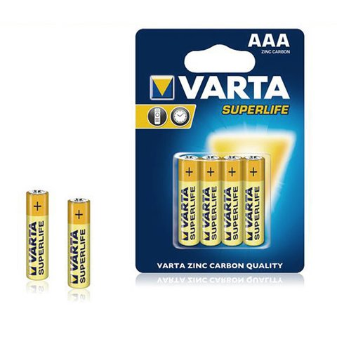 Батареи VARTA 2003 AAA (R3) Superlife (4 шт.)