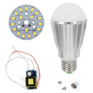 LED Light Bulb DIY Kit SQ-Q17 9 W (cold white, E27)